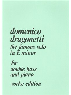 Domenico Dragonetti: The Famous Solo In E Minor Books | Double Bass, Piano Accompaniment