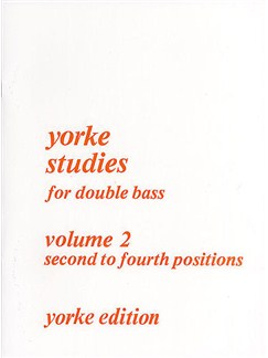 Yorke Studies For Double Bass: Volume 2 Books | Double Bass