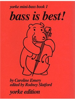 Bass is Best! by Emery Yorke Mini-Bass Book 1 Books | Double Bass