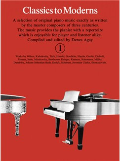 Classics To Moderns Book 1 Books | Piano
