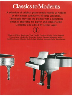 Classics To Moderns (Complete Set) Books | Piano