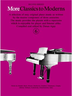 More Classics To Moderns - Book 6 Books | Piano