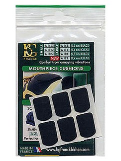 BG: A10S Small Mouthpiece Cushion - Black (Pack of 6)  | Clarinet, Saxophone