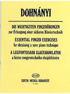 Ernst Von Dohnanyi: Essential Finger Exercises Books | Piano