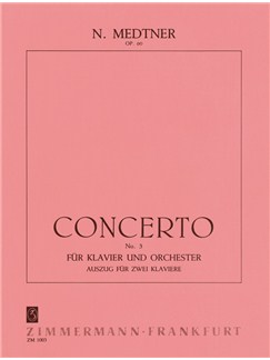 Nikolai Medtner: Piano Concerto No.3 In E Minor Op.60 (2 Piano Score) Books | Two Pianos