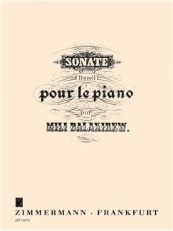 Mily Alexeyevich Balakirev: Sonata In B Flat Minor Books | Piano