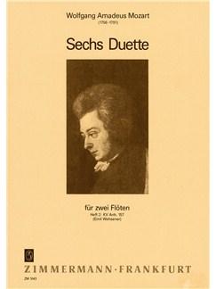 W.A. Mozart: Sechs Duette Fur Zwei Floten KV.157 Books | Flute