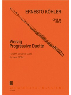 Ernesto Kohler: 40 Progressive Duets Op.55 Book 2 Books | Flute (Duet)