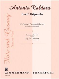 Caldara: Quell Usignuolo (Soprano) Books | Flute, Voice