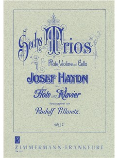 Josef Haydn: Sechs Trios Fur Flote, Violine Und Cello - Book 1 Books | Flute, Piano Accompaniment