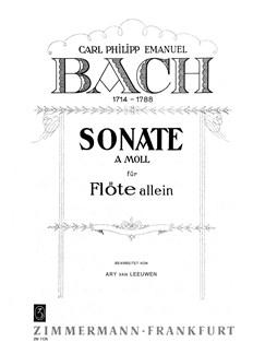 C.P.E. Bach: Sonate A Moll Books | Flute