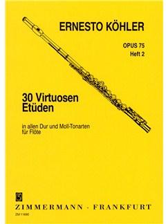 Ernesto Kohler: 30 Virtuoso Studies Op.75 For Flute - Book 2 Books | Flute