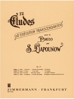 Sergei Liapunov: 12 Etudes Op.11 Nos.1-3 Books | Piano