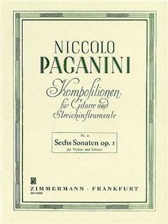 Niccolo Paganini: Sechs Sonaten Op.3 Books | Violin, Guitar