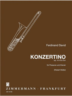 Ferdinand David: Concertino In E Flat Op.4 Books | Trombone, Piano Accompaniment
