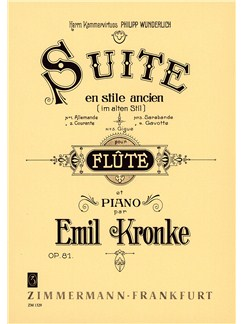 Emil Kronke: Suite In Olden Style Op.81 Books | Flute, Piano Accompaniment