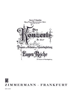 Eugen Reiche: Konzert No. 2 (Trombone) Books | Trombone, Piano Accompaniment