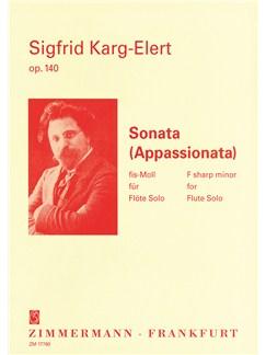 Sigfrid Karg-Elert: Sonata (Appassionata) Op. 140 Books | Flute