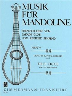 Giovanni Battista Gervasio: Three Duos For Two Mandolins Op.5 Books | Mandolin (Duet)