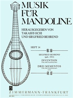 Siegfried Behrend: Invention/Drei Mementos Books | 2 Mandolins