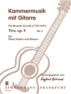 Ferdinando Carulli: Trio Op.9 No.2 Books | Flute, Guitar, Violin