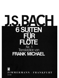 J.S. Bach: Suite No.1 In G BWV 1007 (Flute) Books | Flute