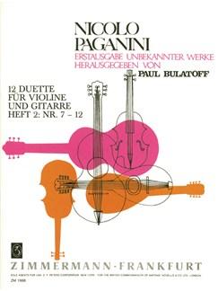 Nicolo Paganini: 12 Duette Fur Violine Und Gitarre, Heft 2: Nr. 7-12 Books | Violin, Guitar