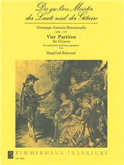 Giuseppe Antonio Brescianello: Vier Partitas Books | Guitar