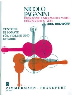 Paganini: Centone Di Sonate 7-12 Books | Guitar, Violin
