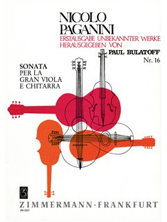 Niccolo Paganini: Sonata For Viola And Guitar Books | Viola, Guitar