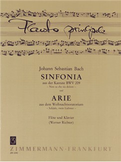 J.S. Bach: Sinfonia (Cantata BWV 209)/Aria (Christmas Oratorio) Books | Flute, Piano Accompaniment
