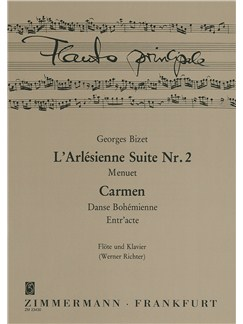Georges Bizet: Three Pieces From Carmen And L'Arlesienne Suite No.2 (Flute/Piano) Books | Flute, Piano Accompaniment