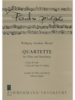 W.A. Mozart: Quartet in A  K.298 And Quartet In C K.171 (Flute and Piano) Books | Flute, Piano Accompaniment