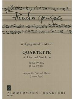 Mozart: Quartet G Major K 285a + D Major K285 Books | Flute
