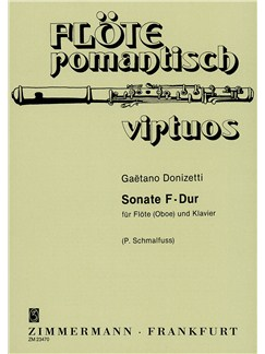 Donizetti: Sonata F Major Books | Flute, Piano Accompaniment