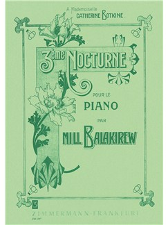 Balakirev: Third Nocturne Books |