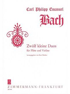 Carl Phillip Emanuel Bach: Twelve Little Duos Books | Flute, Violin