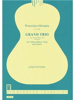Matiegka: Great Trio Op 15 Books | Guitar, Viola, Violin