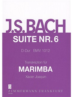 J.S. Bach: Suite 6 BWV 1012 For Marimba Books | Marimba