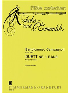 Bartolommeo Campagnoli: Duet No. 1 In E Major Books | Flute, Violin