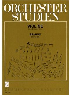 Orchestral Studies: Johannes Brahms - Symphonies Books   Violin
