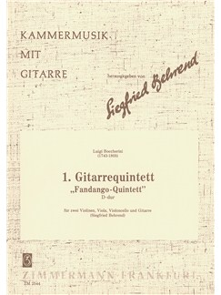 Luigi Boccherini: Guitar Quintet No.1 In D 'Fandango' Books | Guitar, String Quartet