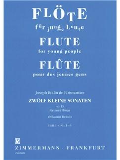 Joseph Bodin de Boismortier: 12 Little Sonatas Op.13 - Book 1 Books | Flute (Duet)