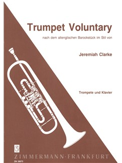 Jeremiah Clarke: Trumpet Voluntary Books | Trumpet, Piano Accompaniment