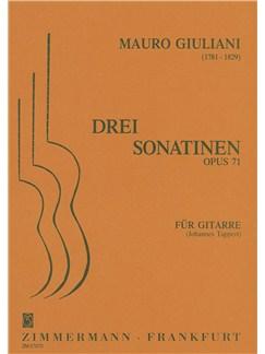 Mauro Giuliani: 3 Sonatinas Op.71 For Guitar Books | Guitar