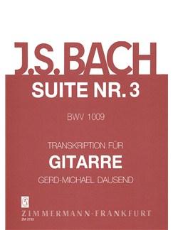 J.S. Bach: Suite No 3 BWV 1009 For Guitar Books | Guitar