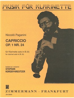 Niccolo Paganini: Capriccio Op.1 No.24 (Clarinet) Books | Clarinet