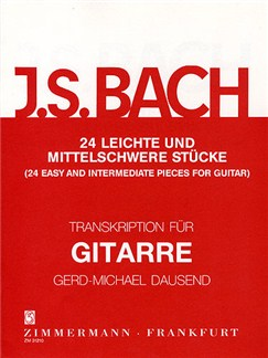 J.S. Bach: 24 Easy And Intermediate Pieces For Guitar Books | Guitar