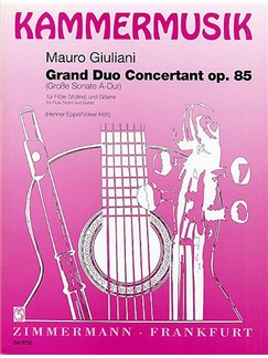 Mauro Giuliani: Grand Duo Concertant Op.85 Books | Flute (or Violin) and Guitar