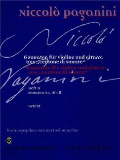 Niccolo Paganini: Centone Di Sonate Volume 2 (Violin/Guitar) Books | Violin, Guitar